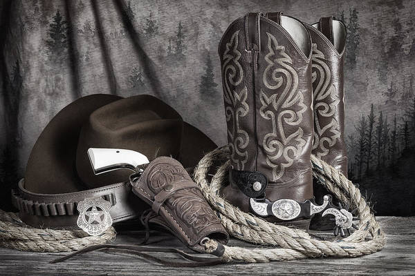 Colt Photograph - Texas Lawman by Tom Mc Nemar