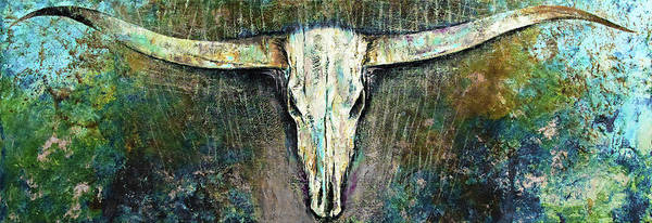 Longhorn Cattle Wall Art - Painting - Texas Longhorn by Michael Creese