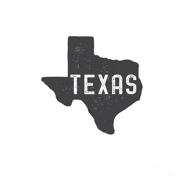 Digital Art - Texas Map Tee by Edward Fielding