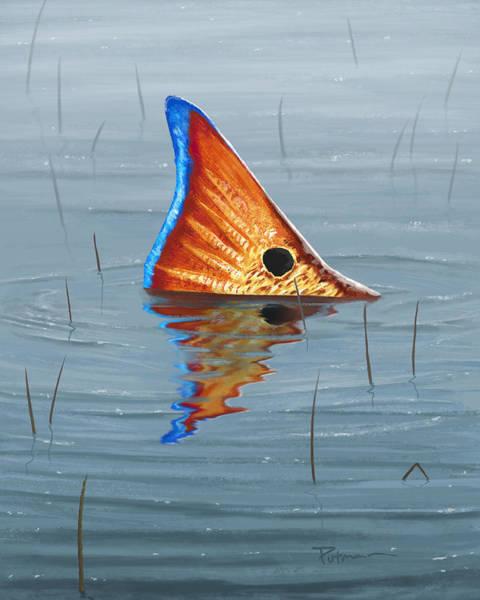 Redfish Wall Art - Digital Art - Texas Marsh Tailer by Kevin Putman