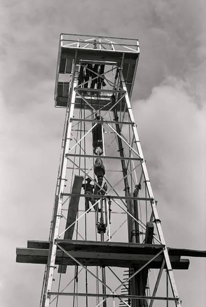 Crows Nest Wall Art - Photograph - Texas Oil Derrick 1939 by Daniel Hagerman