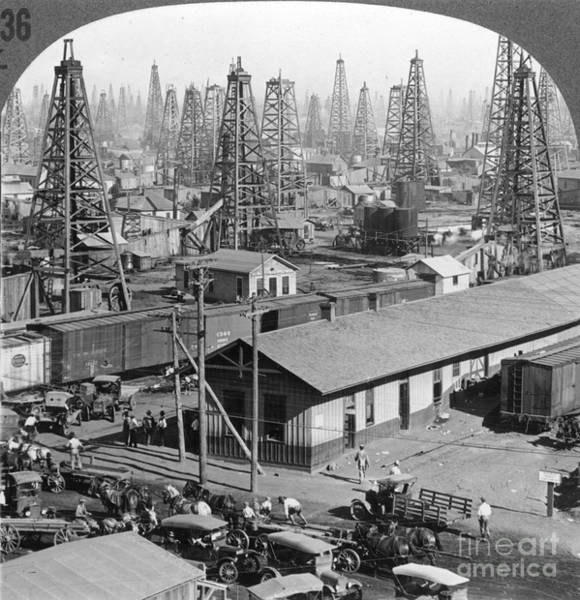 Petroleum Wall Art - Photograph - Texas: Oil Field, 1930 by Granger