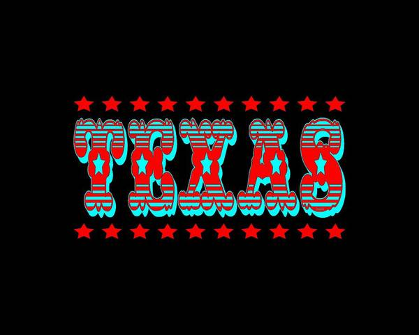 Clothing Design Mixed Media - Texas Lone Star State Design by Peter Potter