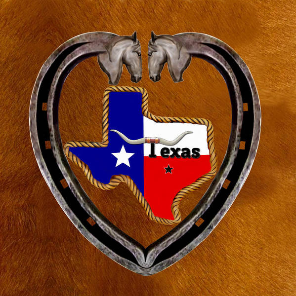 Cowhide Wall Art - Digital Art - Texas Pride by Glenn Holbrook