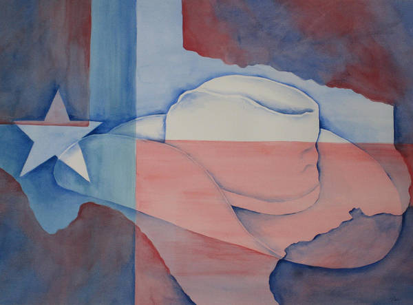 Lone Star Painting - Texas Pride by Linda Bein