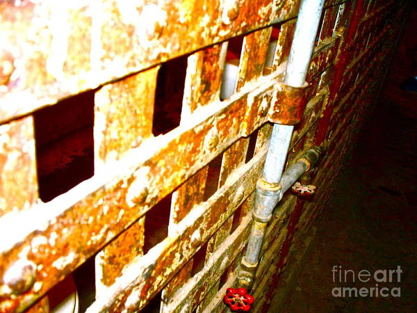 Grating Wall Art - Photograph - Texas Prison 1 by Chuck Taylor