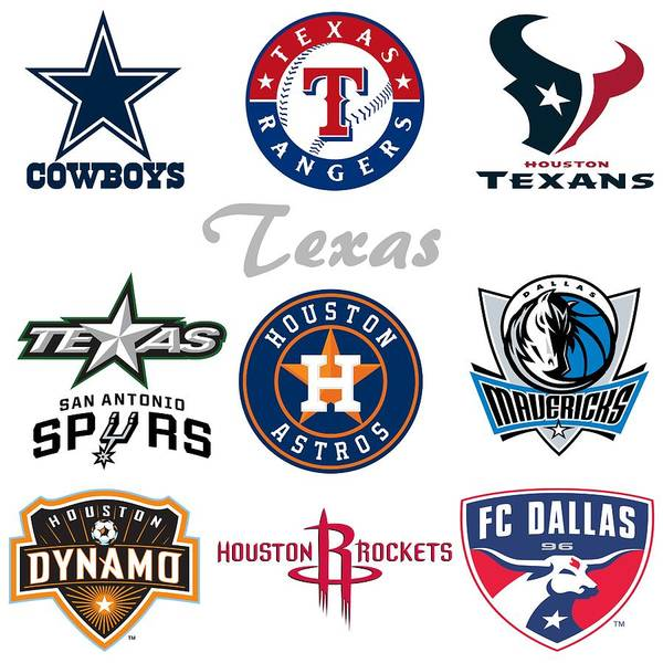 Mixed Media - Texas Professional Sport Teams by Movie Poster Prints