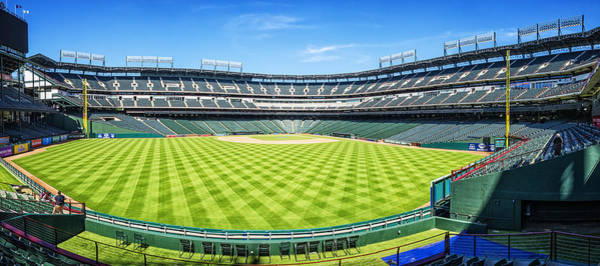 Photograph - Texas Rangers Ballpark Waiting For Action by Joan Carroll