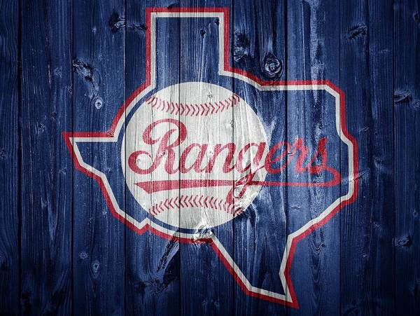 Wall Art - Digital Art - Texas Rangers Barn Door by Dan Sproul