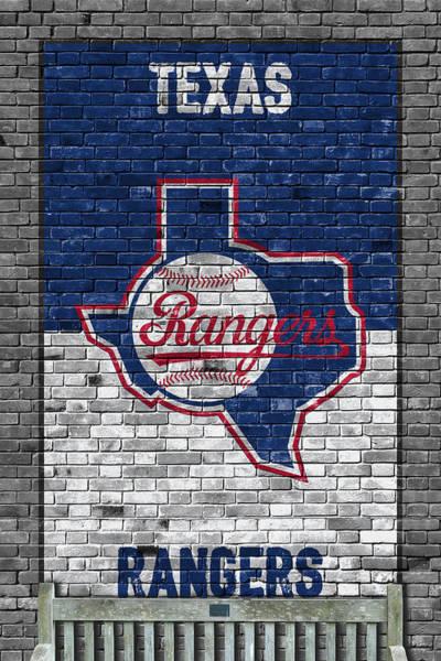 Iphone 4s Wall Art - Painting - Texas Rangers Brick Wall by Joe Hamilton