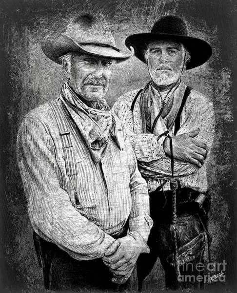 Wall Art - Painting - Texas Rangers Gus And Woodrow Paint Edit by Andrew Read