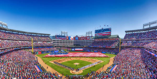 Star-spangled Banner Wall Art - Photograph - Texas Rangers Opening Day 2016 by Stephen Stookey
