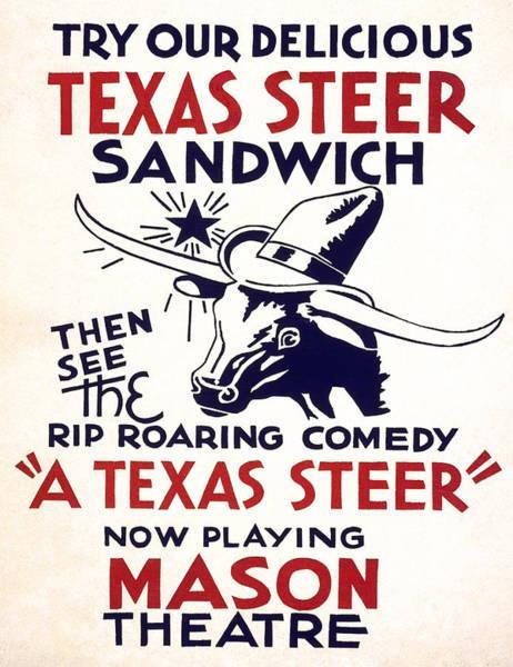 Wall Art - Photograph - Texas Restaurant Menu And Theater Playbill  1936 by Daniel Hagerman
