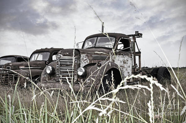 Wall Art - Photograph - Texas Roadside Tow Truck by Chris Andruskiewicz