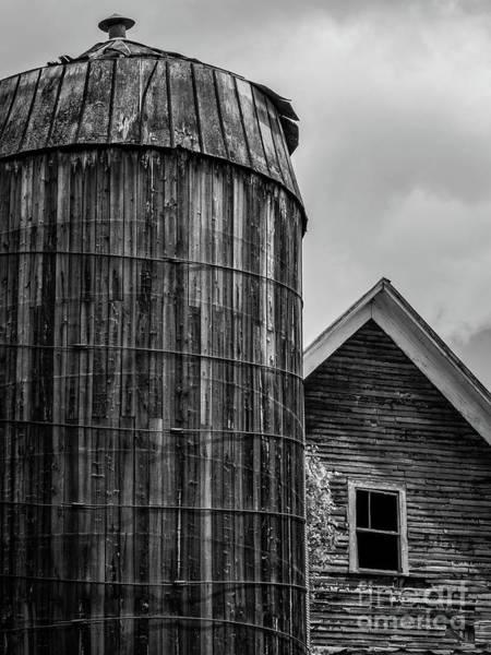 Wall Art - Photograph - Texas Silo And Farm House by Edward Fielding