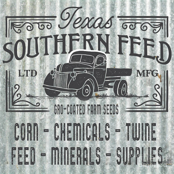 Digital Art - Texas Southern Feed Sign by Edward Fielding
