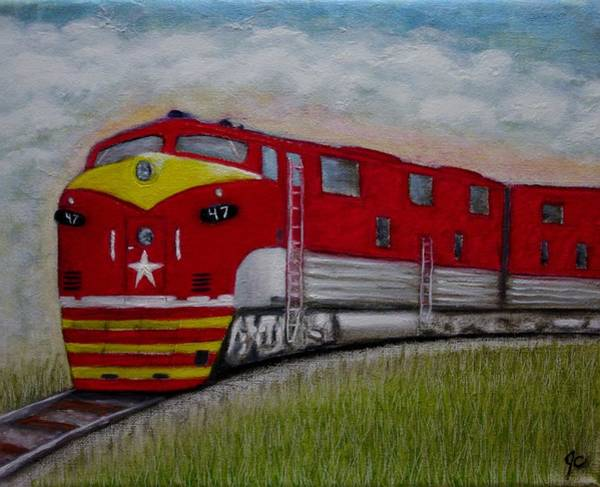 Freight Trains Painting - Texas Special by Jimmy Carender