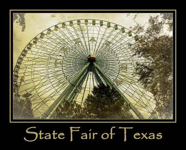 Photograph - Texas Star Gold Poster by Joan Carroll