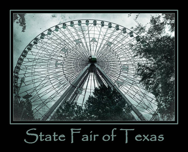 Photograph - Texas Star Aqua Poster by Joan Carroll