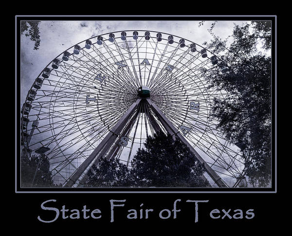 Photograph - Texas Star Purple Poster by Joan Carroll
