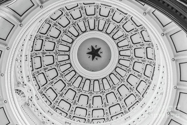 Texas Capitol Photograph - Texas State Capitol Dome by Edward Fielding