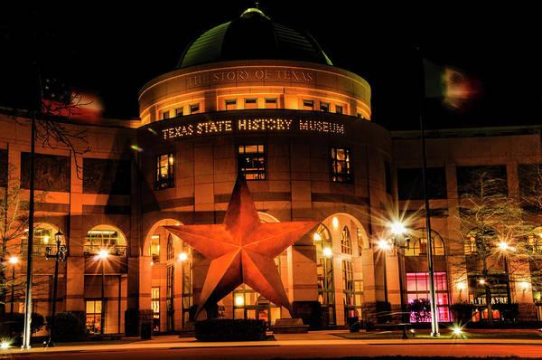 Bullock Texas State History Museum Photograph - Texas State History Museum by Karen Cleveland