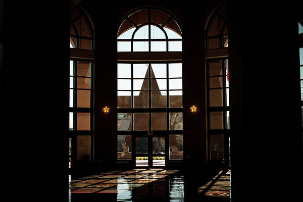 Bullock Texas State History Museum Photograph - Texas State Museum From The Inside by Matt Johnson