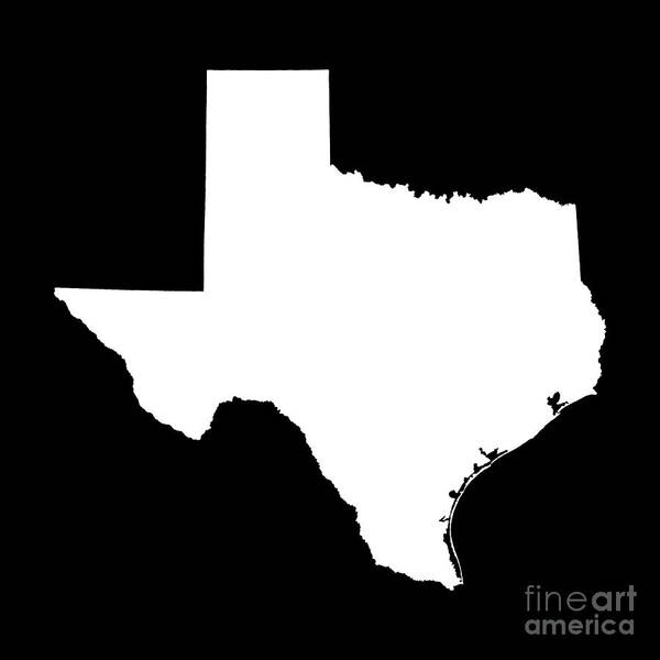 Boundary Digital Art - Texas State Outline by Bruce Stanfield