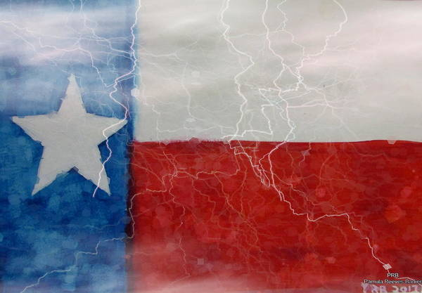 Prb Mixed Media - Texas Storm by Pamula Reeves-Barker