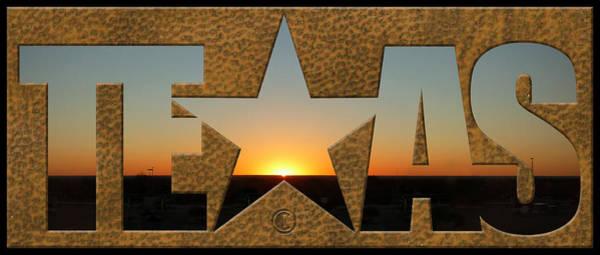 Photograph - Texas Sunrise by Tim Nyberg