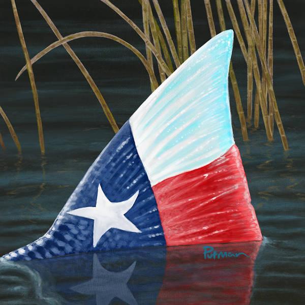 Redfish Wall Art - Digital Art - Texas Tails by Kevin Putman
