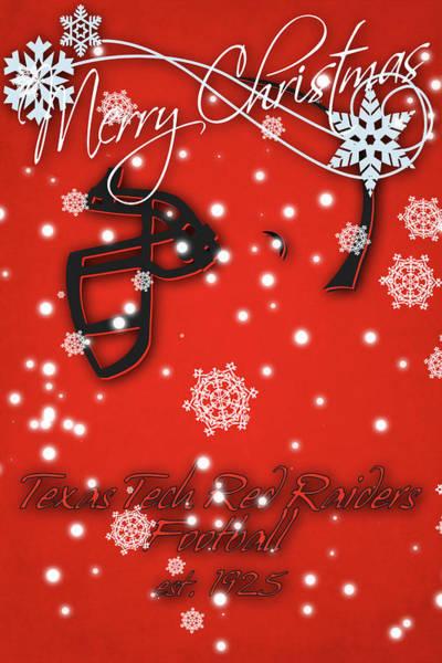 Wall Art - Photograph - Texas Tech Red Raiders Christmas Card by Joe Hamilton