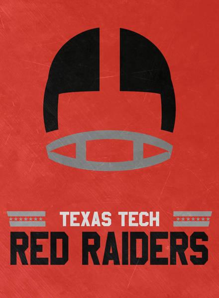 Wall Art - Mixed Media - Texas Tech Red Raiders Vintage Football Art by Joe Hamilton