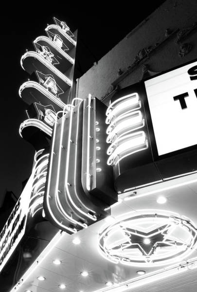 Photograph - Texas Theater Dallas Bw 121417 by Rospotte Photography