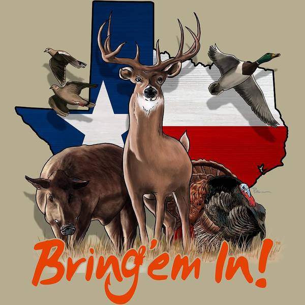 Whitetail Wall Art - Digital Art - Texas Total Package by Kevin Putman