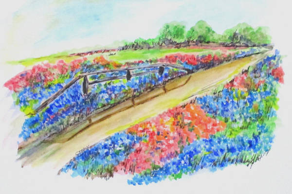 Painting - Texas Wild Flowers by Clyde J Kell