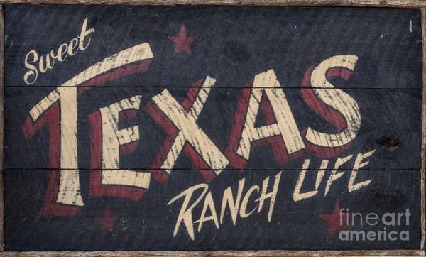 Wall Art - Photograph - Texas Wood Sign by Mindy Sommers