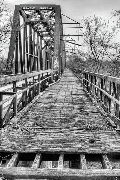 Red Bluff Photograph - Texoma Black And White by JC Findley