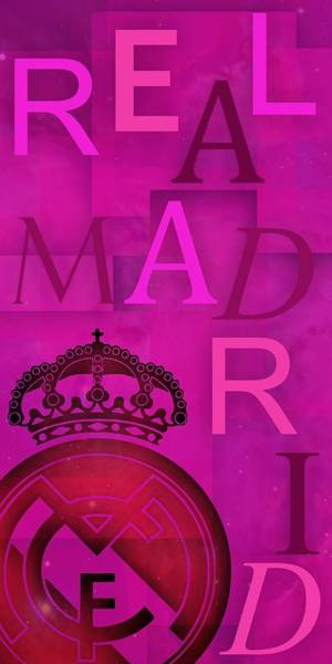 Digital Art - Text Real Madrid Composition Over Purple Background by Alberto RuiZ
