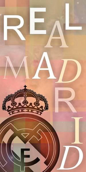 Digital Art - Text Rel Madrid Composition by Alberto RuiZ