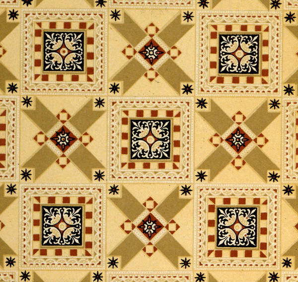 Casing Wall Art - Painting - Textile Design by English School