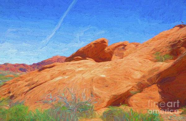 Valley Of Fire State Park Digital Art - Texture Paint Art Valley Of Fire  by Chuck Kuhn
