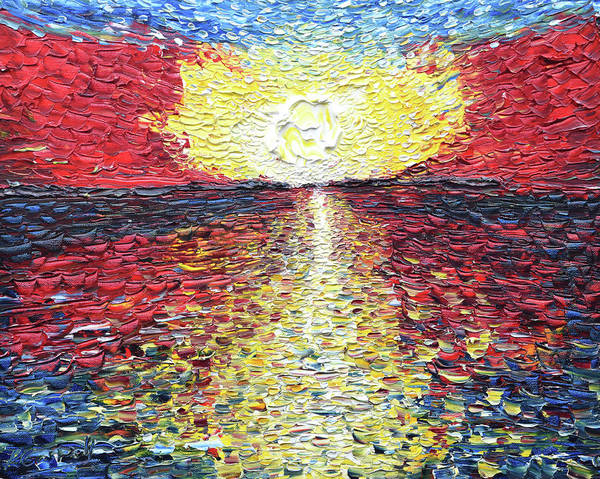 Painting - Textured In The Setting Sun by Pete Caswell