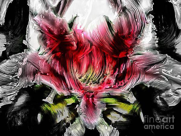 Painting - Textured Lily by Jolanta Anna Karolska