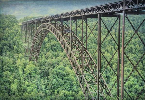 Photograph - Textured New River Gorge Bridge by Dan Sproul