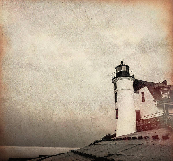 Mixed Media - Textured Point Betsie Lighthouse by Dan Sproul