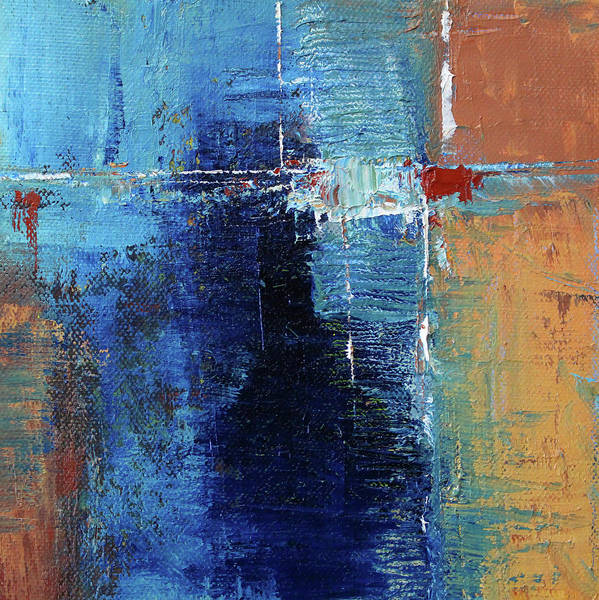Wall Art - Painting - Textured Square No. 2 by Nancy Merkle