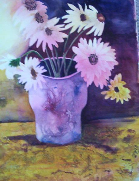 Painting - Textured Vase by Audrey Bunchkowski