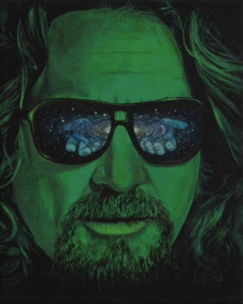The Big Lebowski Painting - Tha Dude by Jacques Kirby