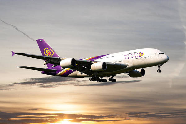 Airlines Photograph - Thai Airlines by Smart Aviation